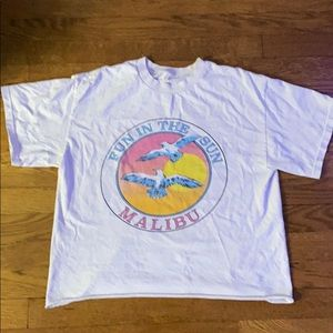 """brandy melville """"Fun in the Sun Malibu"""" shirt"""
